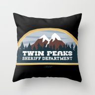 Twin Peaks Sheriff Depar… Throw Pillow
