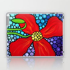 Lady In Red - Big bold beautiful Red poppy by Labor Of Love artist Sharon Cummings. Laptop & iPad Skin