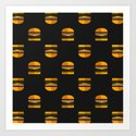 Burger Time Art Print