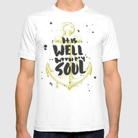 It is Well With My Soul Mens Fitted Tee White SMALL