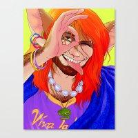 Vivan Los Neones Canvas Print