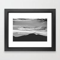 Mountain and Sky Framed Art Print