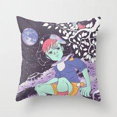 MOONのスズメ Throw Pillow