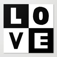 Love Black Canvas Print