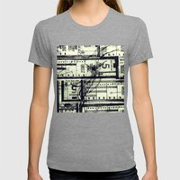 Muni Breaks Mixed Media by Faern Womens Fitted Tee Tri-Grey SMALL