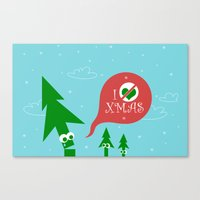 Greestmas. Save Xmas Trees Canvas Print
