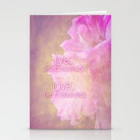 Live And Love Stationery Cards