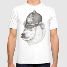 Bearly Legal SMALL Mens Fitted Tee White