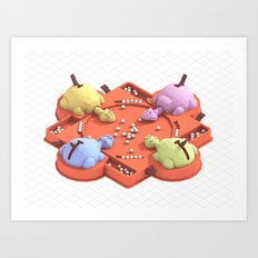 HUNGRY HUNGRY HIPPOS Art Print