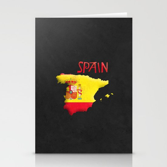 Spain Vintage Map Stationery Card