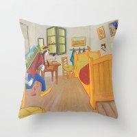 Goofy as Vincent Throw Pillow