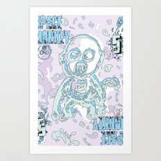 space monkey Art Print