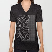 Abstract Grid Outline Wh… Unisex V-Neck