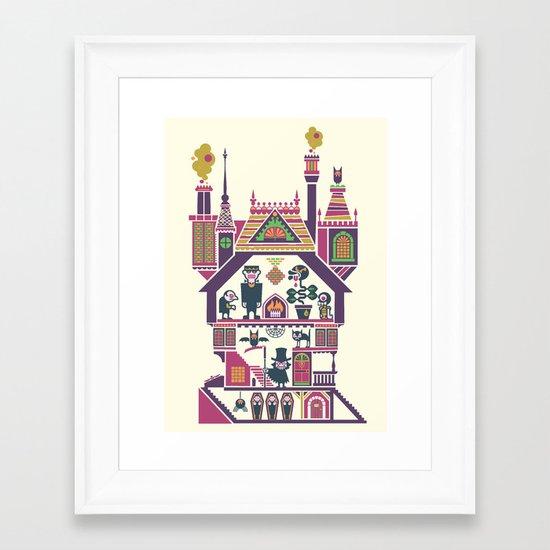 House Of Freaks Framed Art Print