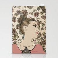 Vintage Girl Stationery Cards