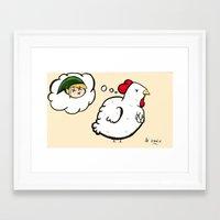 Cucco's Revenge - Zelda Framed Art Print