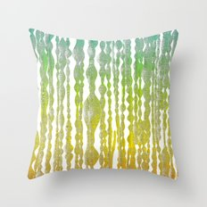 psychedelic stripes - green Throw Pillow