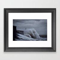 Waves at Porthcawl Framed Art Print
