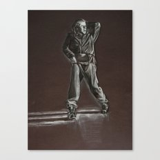 Black and White Drawing Canvas Print