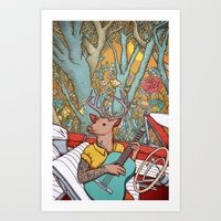 Art Print featuring A ride and a song by Alvaro Arteaga
