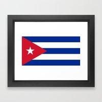 National flag of Cuba - Authentic version Framed Art Print