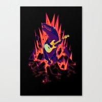 CROC & ROLL Canvas Print