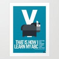 Animal Alphabet Y Art Print