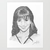 Halle Berry Art Print
