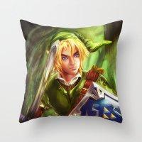 Link - Legend of Zelda Throw Pillow