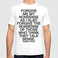 Nonsense SMALL White Mens Fitted Tee