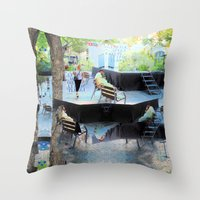 Summer space, smelting selves, simmer shimmers. [extra, 10] Throw Pillow