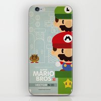 mario bros 2 fan art iPhone & iPod Skin