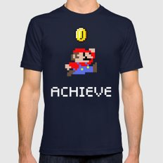Mario Mens Fitted Tee Navy SMALL