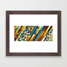 Geometric Sunset Panoramic Framed Art Print