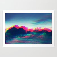 Clouds colorful Art Print