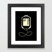 Coffee Transfusion - Black Framed Art Print