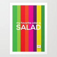 My favorite color is salad Art Print