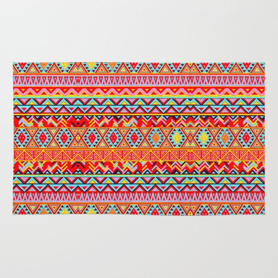 India Style Pattern (Multicolor) Area & Throw Rug