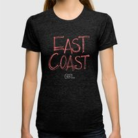 East Coast, Girl. Womens Fitted Tee Tri-Black SMALL