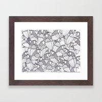 Parrot B&W Framed Art Print