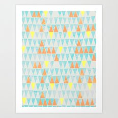 Triangle Patterns Art Print
