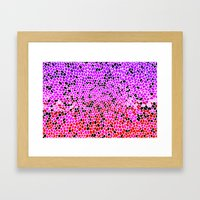THINK LILAC CORAL Framed Art Print