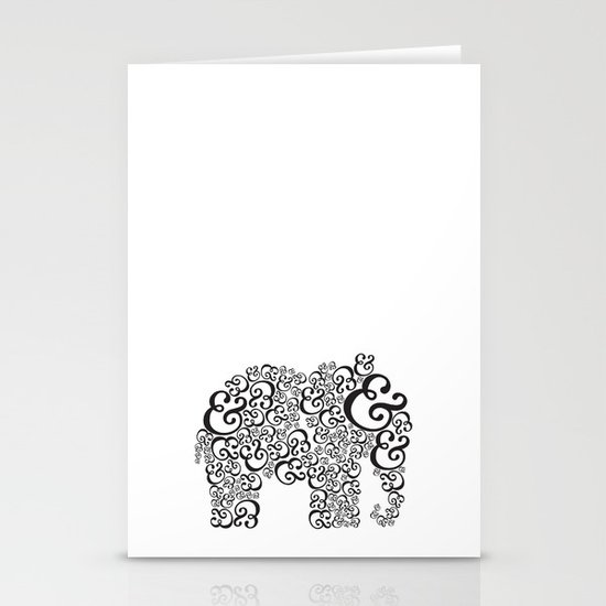 Ampersand Elephant Stationery Card