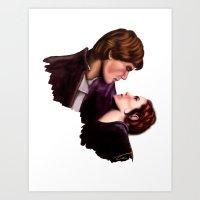 Star Wars, Han & Leia Th… Art Print