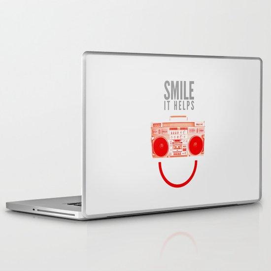 Smile. It Helps. Laptop & iPad Skin