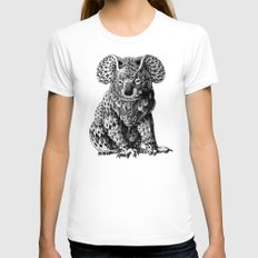 Koala Womens Fitted Tee White SMALL