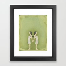 Sisters, Almost Framed Art Print