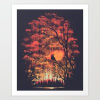 Burning In The Skies Art Print