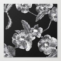 Flower Scratchboard Canvas Print