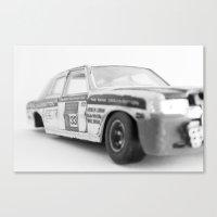 Wrecked Toy Car - Alpha … Canvas Print